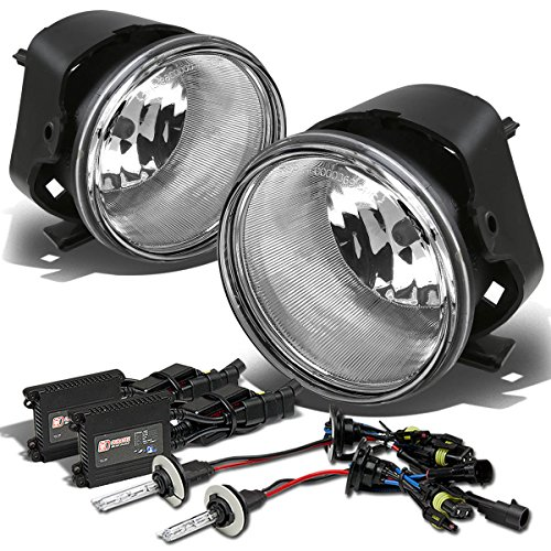 Chrysler 300 Bumper Fog Light+Switch+12,000K HID+Slim Ballast (Clear Lens) - 1st Generation