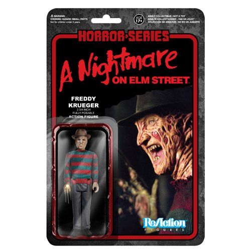 [ Re- action ] 3.75 inches action figures ' horror ' series 1 ' Nightmare on Elm Street ' Freddy Krueger by Fanko