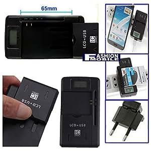 Fashionmobile® Cargador bateria LCD 3-1 para ZOPO ZP950 ZP950+ USB Red con salida USB 1300 m... Battery Charger