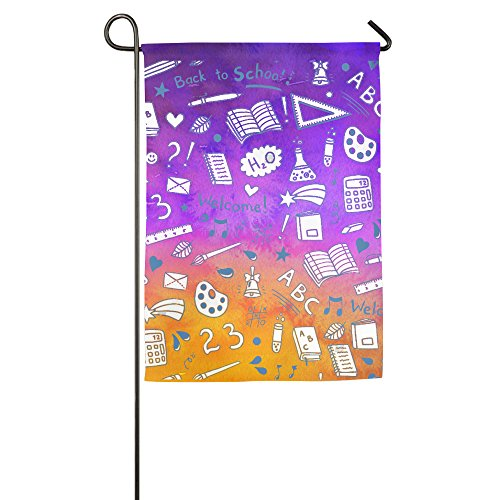 Blue Thickly Dotted Stationery Colorful Seasonal Home Garden Flags Semi Transparent Polyester Fiber 12 X 18 Emblemize