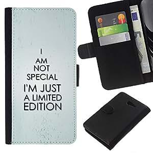 All Phone Most Case / Oferta Especial Cáscara Funda de cuero Monedero Cubierta de proteccion Caso / Wallet Case for Sony Xperia M2 // Special Unique Exclusive Funny Quote
