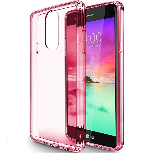 LG Stylo 4 Case, LG Stylo 4 Plus/LG Q Stylus/LG Stylus 4 Case Clear, SKTGSLAMY Scratch Resistant TPU Rubber Soft Skin Silicone Protective Case Cover for LG Stylo 4 (Pink)