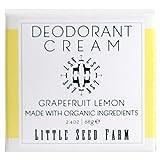 Little Seed Farm Natural Grapefruit Lemon Deodorant Cream, Aluminum-Free, Baking Soda Free, 2.4 Ounce