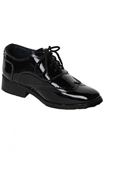 07862d802a7 Chaussure Enfant Noire de cérémonie Vernis - Noir Brillant - P-24 ...