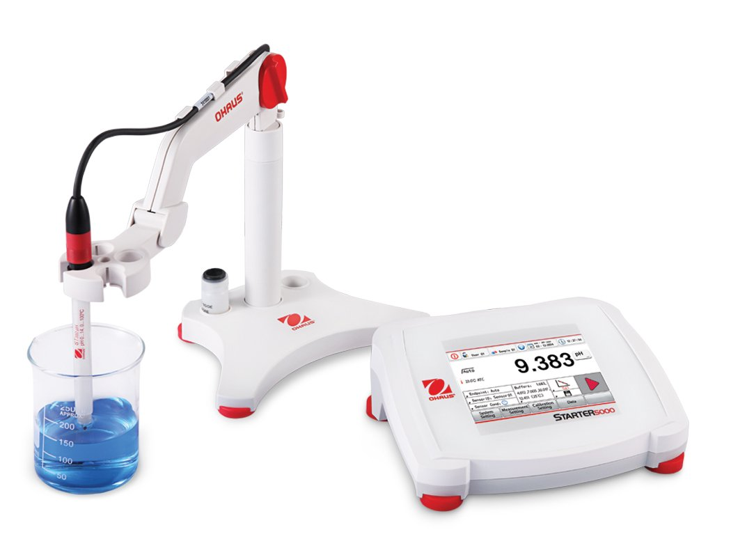 Ohaus ST5000-F Benchtop pH Meter with Touchscreen