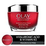 Olay Anti-aging Face Moisturizer Cream Regenerist, Micro-sculpting And Fragrance-free, 1.7 Ounces