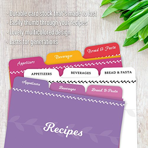 Jot & Mark Recipe Card Dividers | 24 Tabs per Set, Works With 4x6 Inch Cards, Helps Organize Recipe Box (Classic) by Jot & Mark (Image #2)