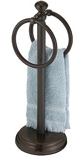 hand towel holder. MetroDecor MDesign Metal Hand Towel Holder For Bathroom Vanities - Bronze