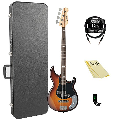 Yamaha BB234 BB-Series 4-String Bass Guitar with Hard Case and Accessories, Yellow Natural Satin from Yamaha