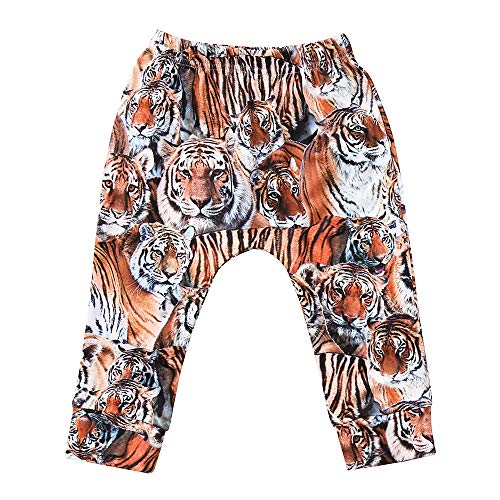 Infant Baby Toddler Baby Boys Girls Pants Cute Cartoon Animal Tiger Digital Print Bottoms Trousers Clothes 1-3 T (18-24 Months, Brown) ()