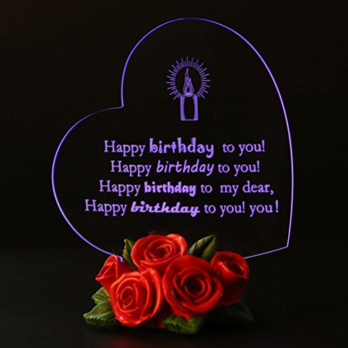 Giftgarden Birthday Gifts Cake Toppers LED Light Friends Happy Birthdays