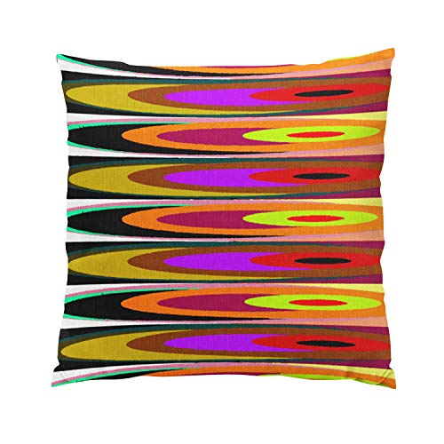 Suike Colored Saucers Plush Hidden Zipper Home Sofa Decorative Throw Pillow Cover Cushion Case Square 20x20 Inch Two Sides Design Printed Pillowcase