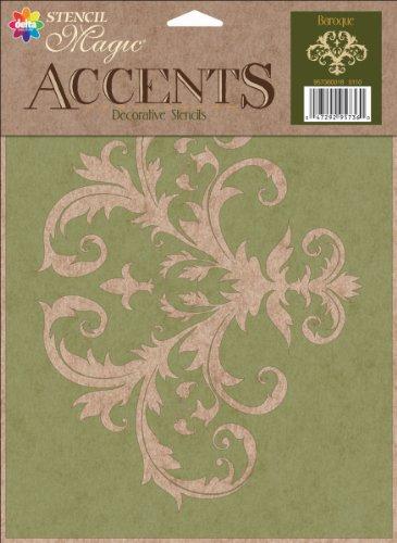 Delta Creative Stencil Magic Accents, 8.5 by 11.25-Inch, 95736 Baroque