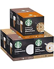 Starbucks Nescafe Dolce Gusto Variety Pack Witte Kop Koffiepads, 6er Pack (6 x 12 capsules) (36 Porties)