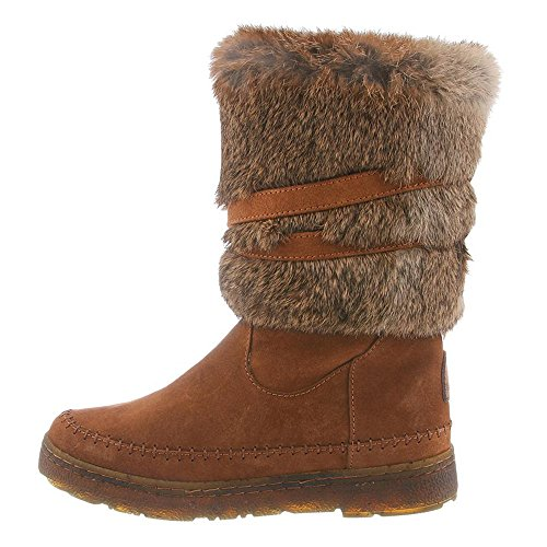Bearpaw Womens Kara: 10 In. Fur Boot (HickoryII, 9)