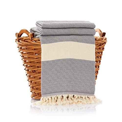 - 100% Cotton Throw Blanket - Ultra Premium Natural Soft Hypoallergenic Luxury Large Sized Blanket for Couch Sofa Bed and Outdoors - 83
