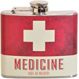 Medicine 5 oz. Stainless Steel Flask