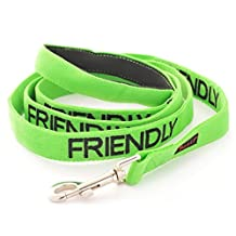 """FRIENDLY"" Green Color Coded 2 Foot 4 Foot 6 Foot Dog Leash (Known As Friendly) PREVENTS Accidents By Warning Others Of Your Dog In Advance! (Standard Leash)"