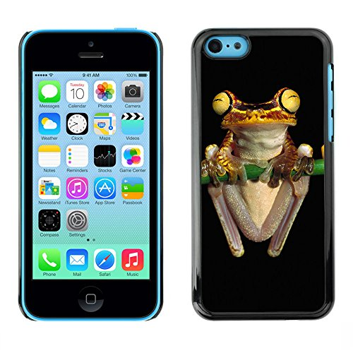 Omega Case PC Polycarbonate Cas Coque Drapeau - Apple iPhone 5C ( Cool Neon Yellow Jungle Frog )