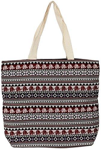 Handbag Big Shoulder Size Handle Tote Bohemian Bag Cute Top Elephant E212 Hippie 87zzpw