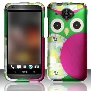 For HTC Desire 601 ZARA (Virgin Mobile) Rubberized Design Cover - Owl Design
