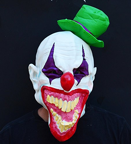 Acid Tactical Scary Creepy Halloween Clown Evil Latex Mask - Mad Hatter Clown -