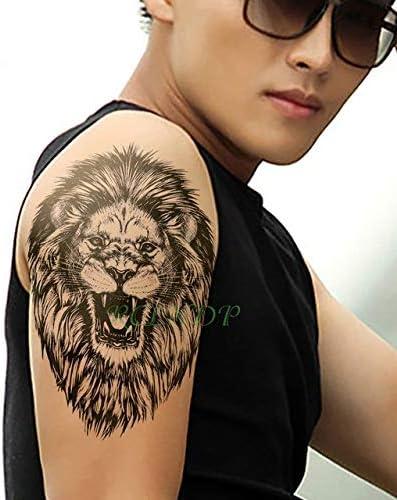 HXMAN 5 Unids Impermeable Tatuaje Temporal Pegatina León Reina ...