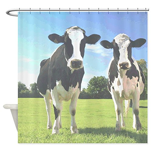 CafePress Holstein Cows - Decorative Fabric Shower Curtain