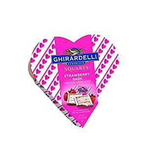 Ghirardelli Valentine Strawberry Bark Heart Gift Box, 2.9 Ounce