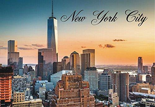 New York City, Freedom Tower, Skyline, One World Trade Center, NYC, Sunset, Souvenir, Travel, Locker Magnet 2 x 3 Fridge Magnet