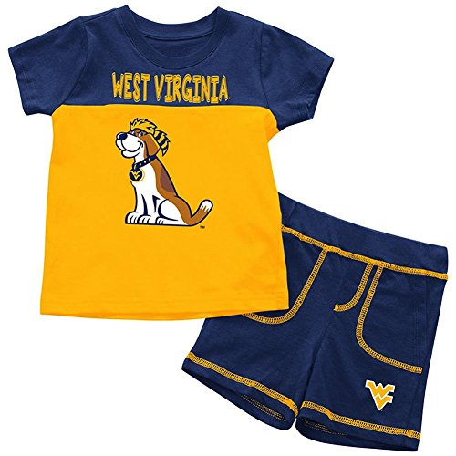 (Colosseum West Virginia Mountaineers Infant T-Shirt and Shorts Boy's 2-Pc Set (12-18 M))