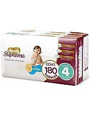 Huggies Supreme Pañal Desechable para Bebé, Etapa 4 Niño, Caja con 180 Piezas, Ideales para niños de 9 a 12 kg