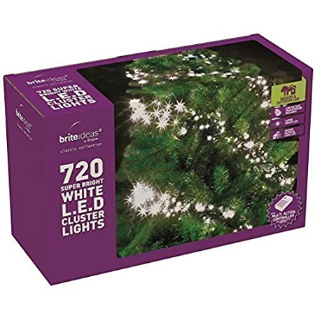 brite ideas festive bright white multi action led cluster lights christmas tree xmas outdoor indoor