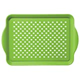 Oggi 5504.11 Rectangle Non Skid Rubber Grip Serving Tray, Green