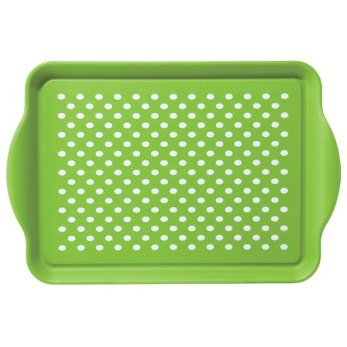 Oggi 5504.11 Rectangle Non Skid Rubber Grip Serving Tray, Green ()