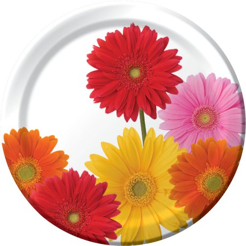 Price comparison product image Gerbera Bouquet Banquet Plates (8ct)