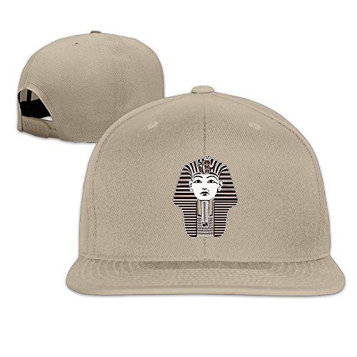 Ancient Egypt Sphinx Adjustable Flat Peaked Hat Natural