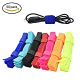 Tools & Hardware : FATHER.SON 50pcs Cable Ties Reusable Fastening Wire Organizer Cord Rope Holder 7 Inch (50)