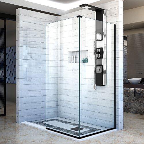 DreamLine línea dos adyacentes mamparas de ducha sin marco 34 en ...