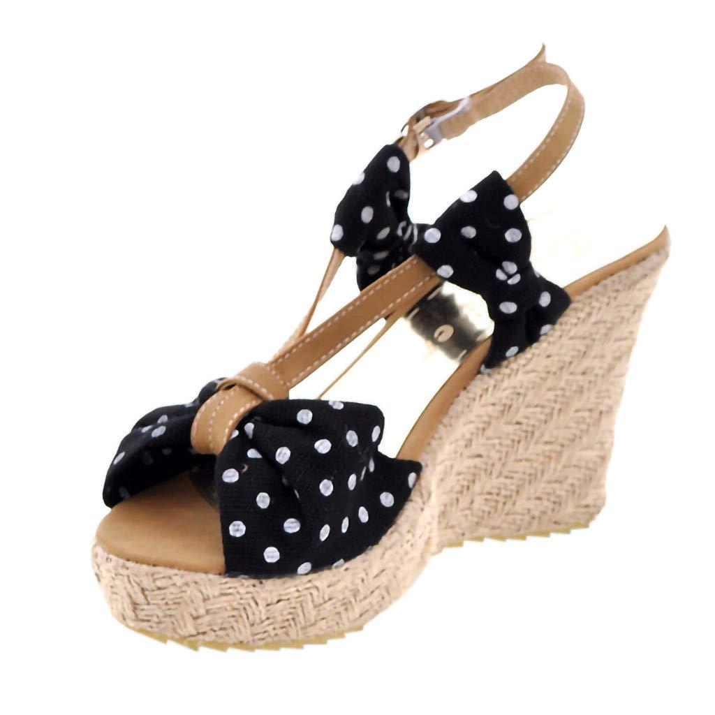 12eb549e3b6eb Amazon.com : Women Espadrille Sandals Suede Peep Toe Wedge Platform ...