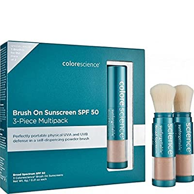 Colorescience Sunforgettable Mineral Sunscreen Brush SPF 50 Multipack Medium
