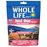 Whole Life Pet Just One-Single Ingredient Freeze Dried Treats for Dogs Pure Salmon Fillet, 2oz