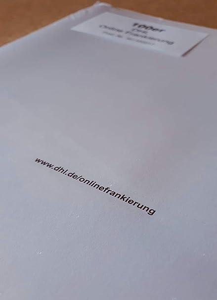 100 Dhl Etiketten Für Online Frankierung Versandetiketten