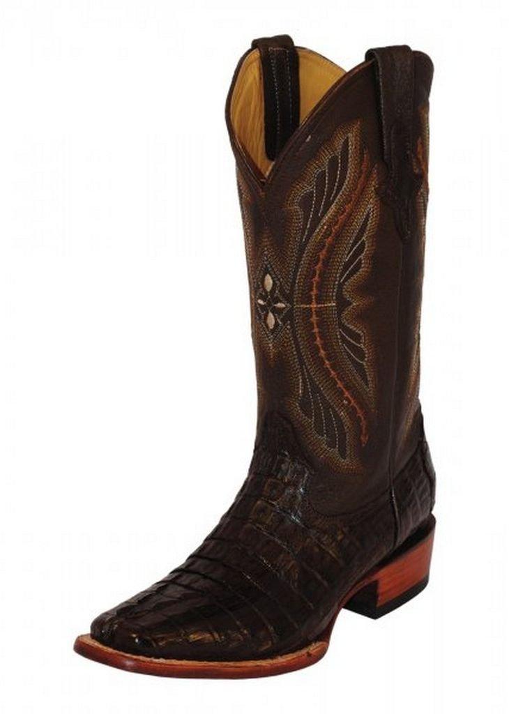 Ferrini Mens Caiman Croc Tail Sq Boots B00J7WXT28 13 D(M) US|Cho