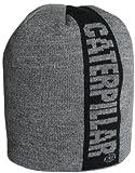 Caterpillar Men's Power Stripe Knit Cap, Dark Heather Grey, One Size