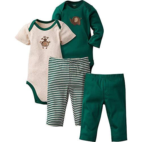 Gerber Baby Boys' 4-Piece Bodysuit and Pant Set