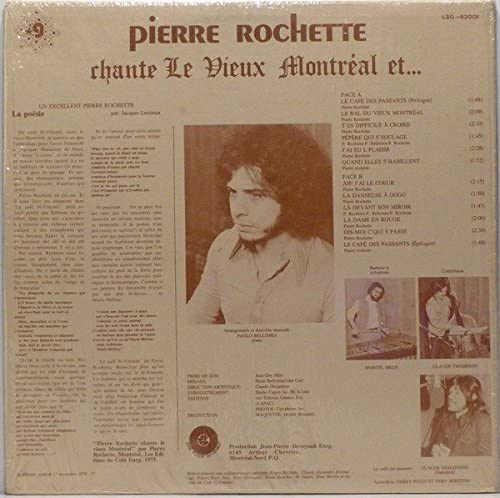 Le Vieux Montreal Et.. - 1974 - (Canada) - Vinyl Records - LP: PIERRE  ROCHETTE: Amazon.ca: Music