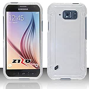 Zizo Cell Phone Case for Samsung Galaxy S6 Active - Retail Packaging - Clear Transparent