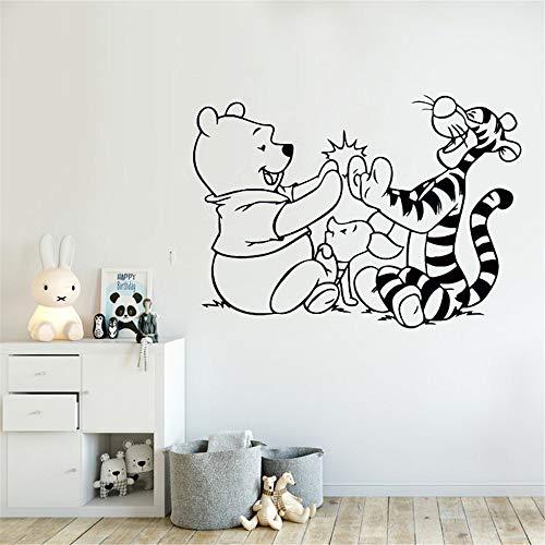 Winnie The Pooh Wall Decal Tigger Piglet Cartoon Vinyl Sticker Removable Kids Room Decor Babys Bedroom Wall Vinyl Decals for Nursery Kid ()