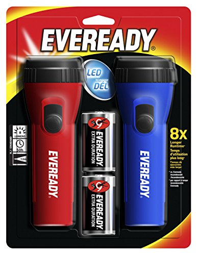 Eveready LED Economy Flashlight, Assorted Colors, Pack of - Torch Eveready